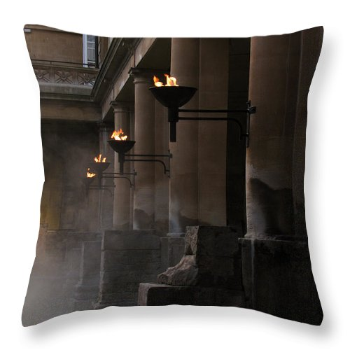 Bath Throw Pillow featuring the photograph Roman Baths by Amanda Barcon
