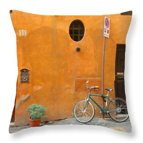 Rome Throw Pillow featuring the photograph Roman Doors by Thomas Marchessault