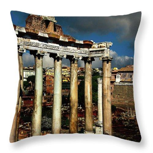 Roman Forum Throw Pillow featuring the photograph Roman Forum by Harry Spitz