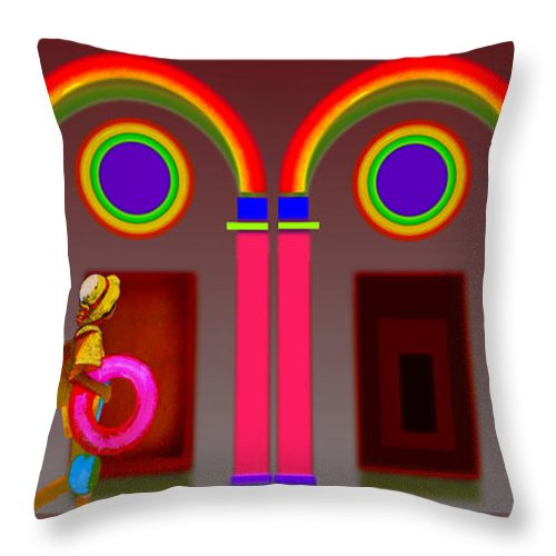 Classical Throw Pillow featuring the digital art Roman Red by Charles Stuart