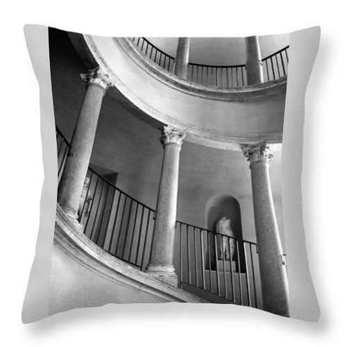 Italy Throw Pillow featuring the photograph Roman Staircase by Donna Corless