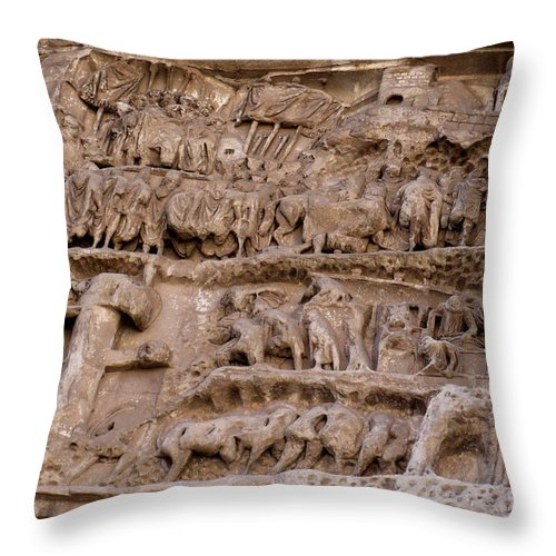 Rome Throw Pillow featuring the photograph Roman Wall by Carol Groenen