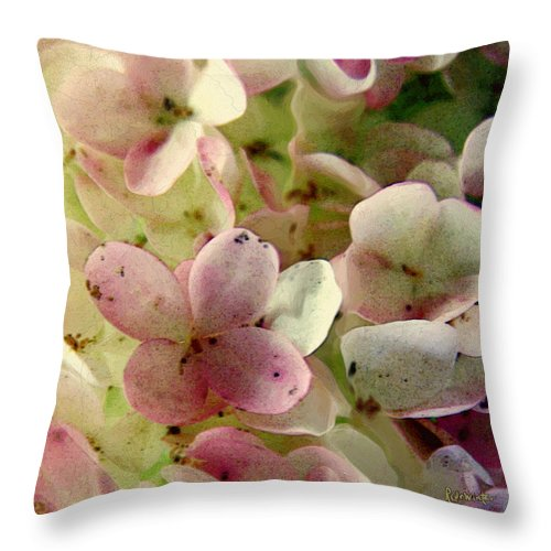 Floral Throw Pillow featuring the digital art Romance In Pink And Green by RC DeWinter