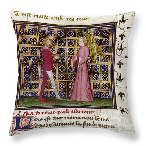 15th Century Throw Pillow featuring the photograph Romance Of The Rose by Granger
