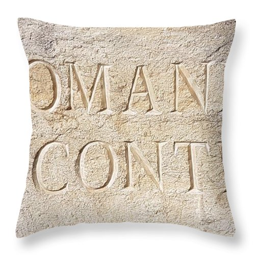 Stone Wall Throw Pillow featuring the photograph Romanee Conti by Nadia Seme