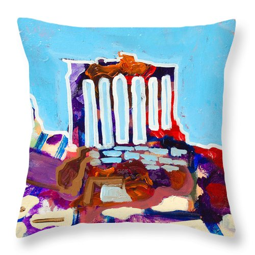 Rome Throw Pillow featuring the painting Rome by Kurt Hausmann