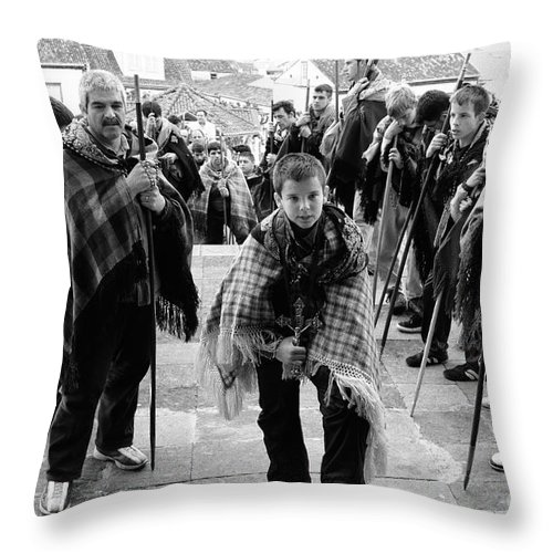 Group Throw Pillow featuring the photograph Romeiros Pilgrims by Gaspar Avila