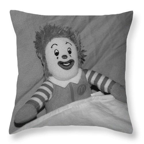 Ronald Mcdonald Throw Pillow featuring the photograph Ronald Mcdonald by Rob Hans