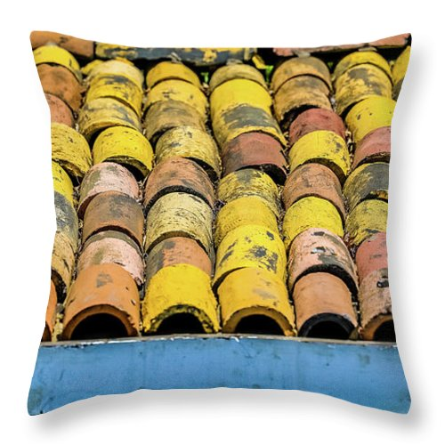 House Throw Pillow featuring the photograph Roof Tile by Hyuntae Kim