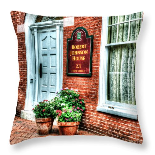 Annapolis Throw Pillow featuring the photograph Room At The Inn by Debbi Granruth