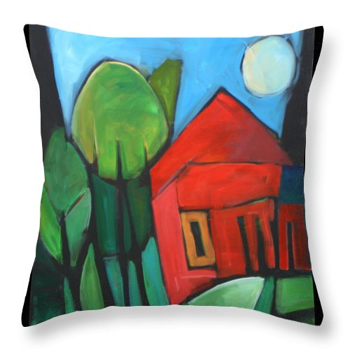 Trees Throw Pillow featuring the painting Root Cellar by Tim Nyberg