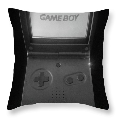 Gameboy Throw Pillow featuring the photograph Root Of All Evil......really Mom by WaLdEmAr BoRrErO