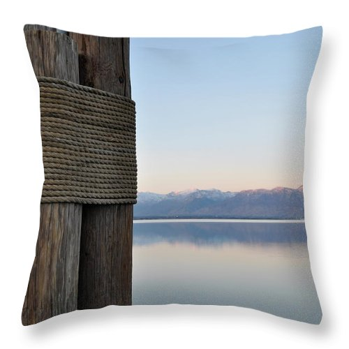 Piling Throw Pillow featuring the photograph Rope by Kat Cortez