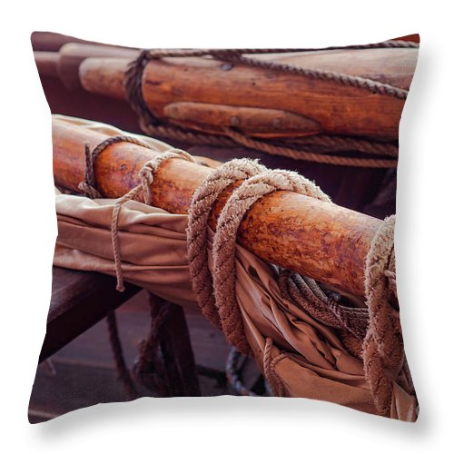 Connecticut Throw Pillow featuring the photograph Rope Wrapped by Joe Geraci