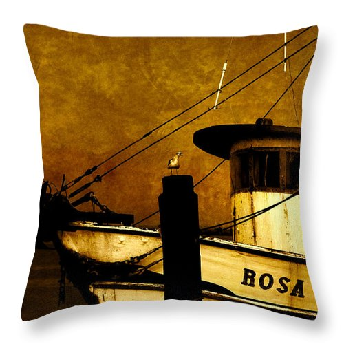 Rosa Marie Throw Pillow featuring the photograph Rosa Marie by Susanne Van Hulst