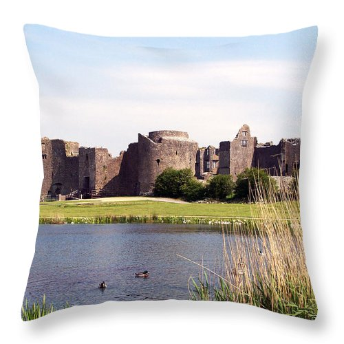 Roscommon Throw Pillow featuring the photograph Roscommon Castle Ireland by Teresa Mucha
