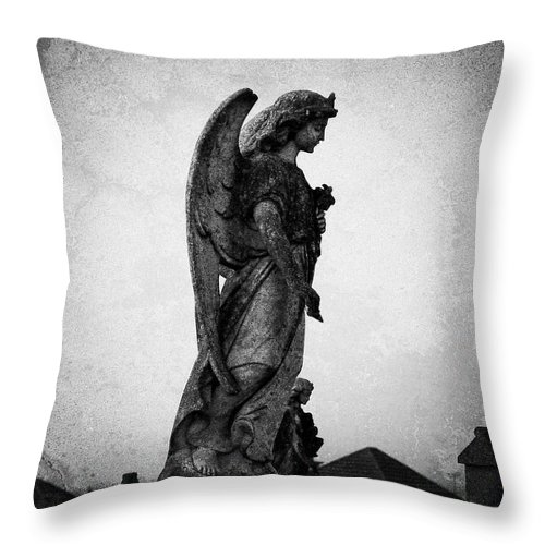Roscommon Throw Pillow featuring the photograph Roscommonn Angel No 4 by Teresa Mucha
