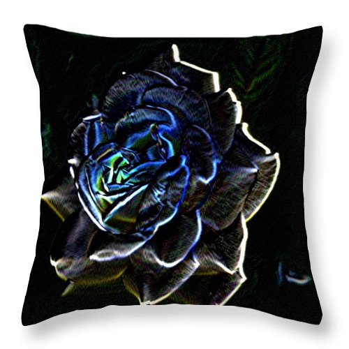 Rose Throw Pillow featuring the photograph Rose 3 by Tim Allen