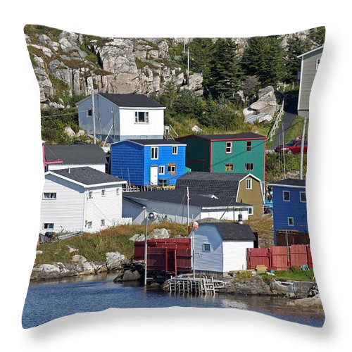 Rose Blanche Throw Pillow featuring the photograph Rose Blanche Newfoundland by Gord Patterson