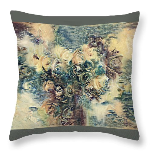 Throw Pillow featuring the digital art Rose by Blu Raven