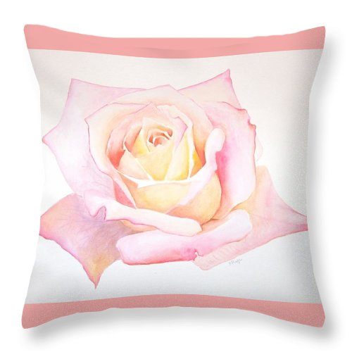 Realism Throw Pillow featuring the painting Rose by Emily Page