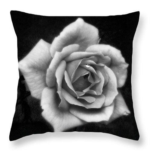 Beautiful Throw Pillow featuring the photograph Rose In Mono. #flower #flowers by John Edwards
