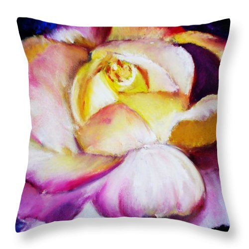 Rose Throw Pillow featuring the print Rose by Melinda Etzold