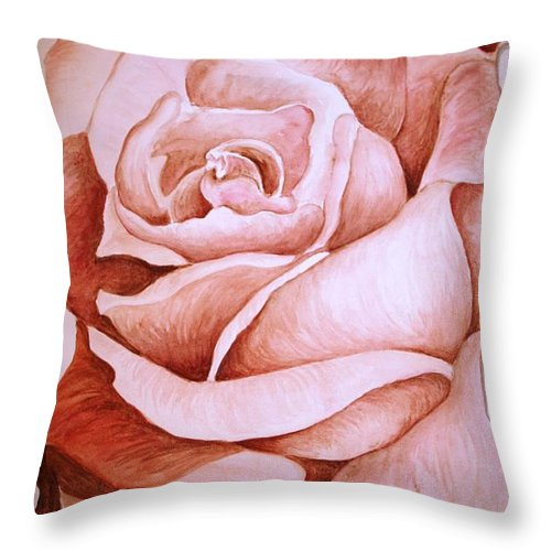 Rose Throw Pillow featuring the painting Rose by Melissa Wiater Chaney