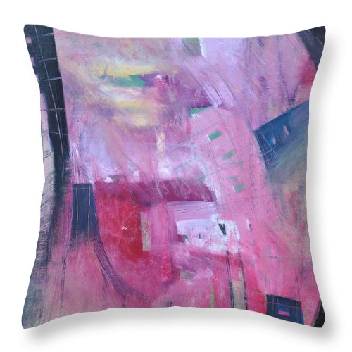 Rose Throw Pillow featuring the painting Rose Room by Tim Nyberg