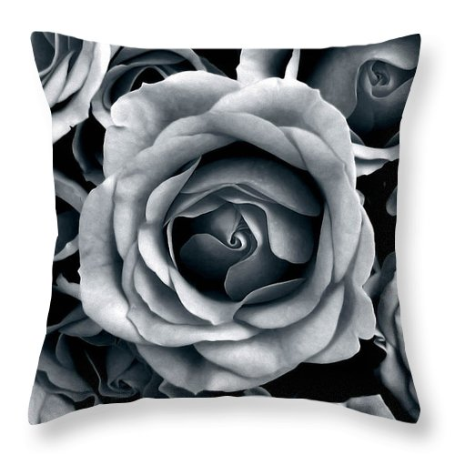 Flower Throw Pillow featuring the photograph Rose Tones by Jessica Jenney