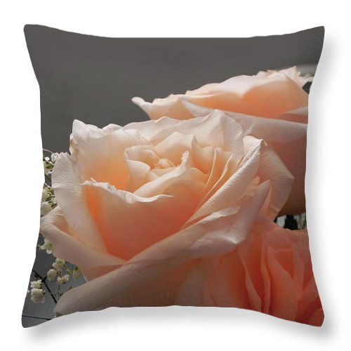 Roses Throw Pillow featuring the photograph Roses Light by Francesa Miller