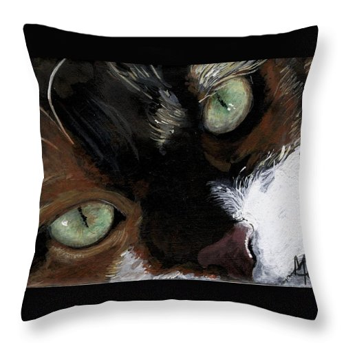 Charity Throw Pillow featuring the painting Rosie by Mary-Lee Sanders