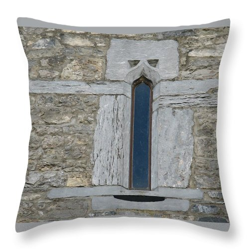 Ross Castle Throw Pillow featuring the photograph Ross Castle by Kelly Mezzapelle