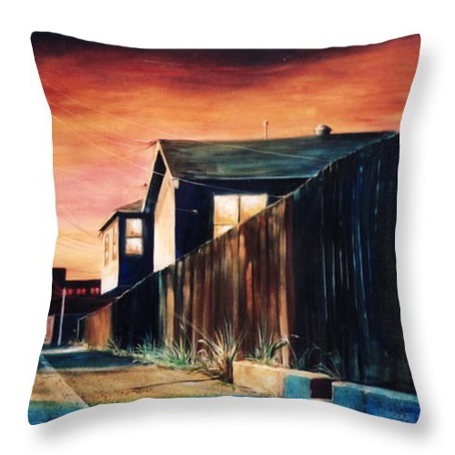 Alley Throw Pillow featuring the painting Rouge Alley by Duke Windsor