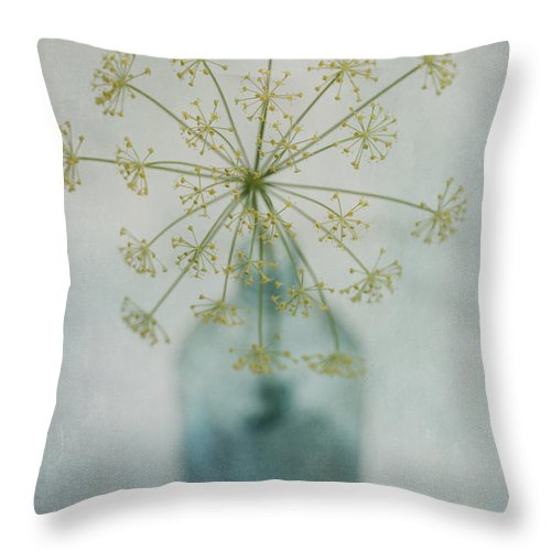 Dill Throw Pillow featuring the photograph Round Dance by Priska Wettstein