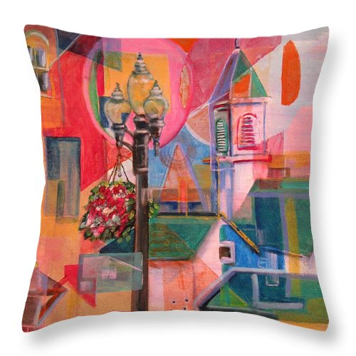 Millville Throw Pillow featuring the painting Rounds In Millville by Dennis Tawes