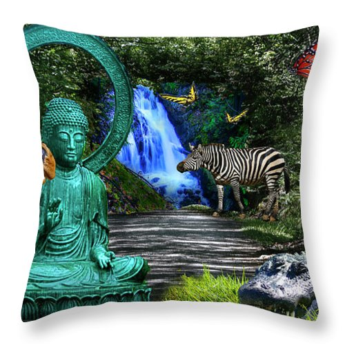 Rousseau Throw Pillow featuring the photograph Rousseau's Garden by Dan Earle