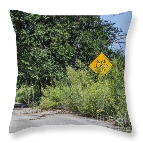 Route 66 Throw Pillow featuring the photograph Route 66 End Of The Road by Cheryl Aguiar