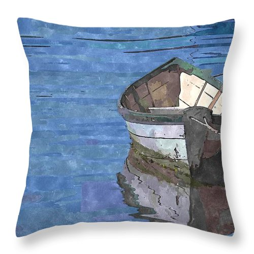 Rowboat Throw Pillow featuring the photograph Rowboat by Kelly Bryant