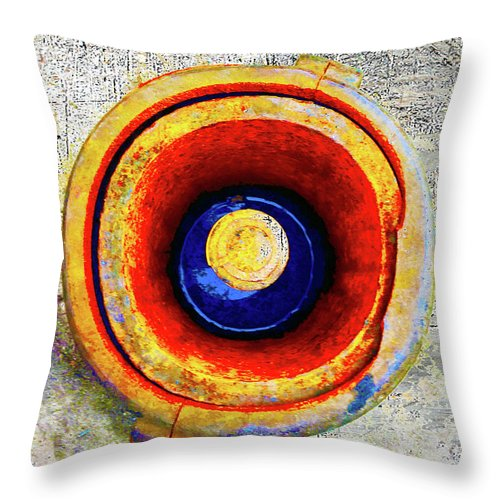 Rusty Hole Throw Pillow featuring the mixed media Royal Air Force by Tony Rubino
