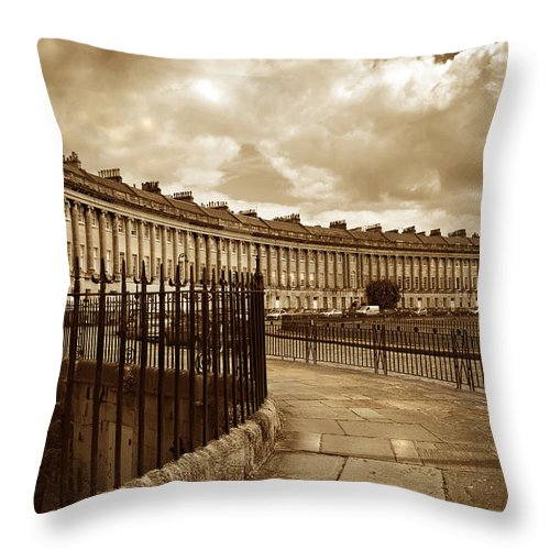Bath Throw Pillow featuring the photograph Royal Crescent Bath Somerset England Uk by Mal Bray