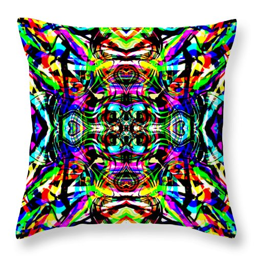 Abstract Throw Pillow featuring the digital art Ruba by Blind Ape Art