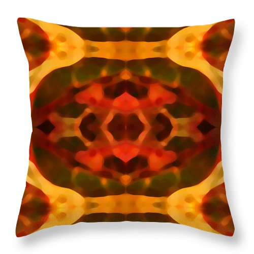 Abstract Painting Throw Pillow featuring the digital art Ruby Crystal Pattern by Amy Vangsgard