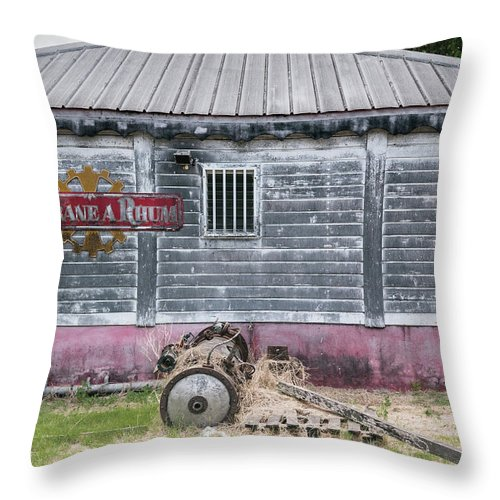 Factory Throw Pillow featuring the photograph Rum Factory by Joe Maggio