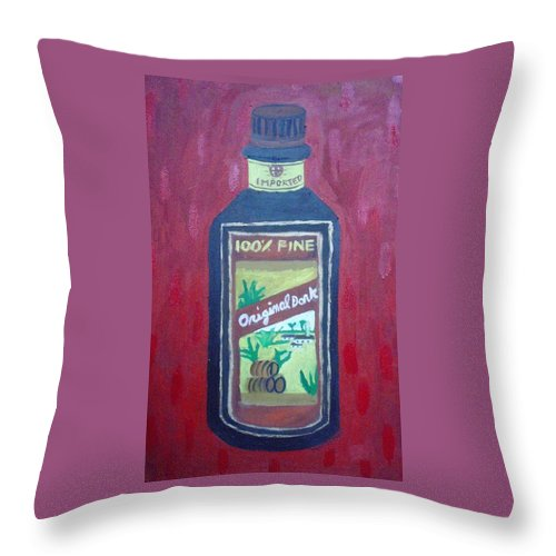 Oil On Canvas Throw Pillow featuring the painting Rum by Patrice Tullai