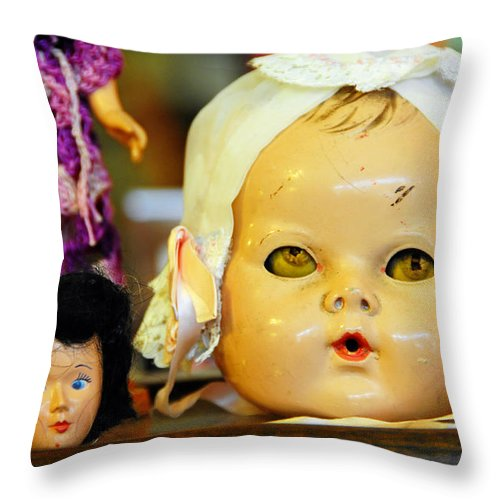 Antique Throw Pillow featuring the photograph Rumormongers by Skip Hunt