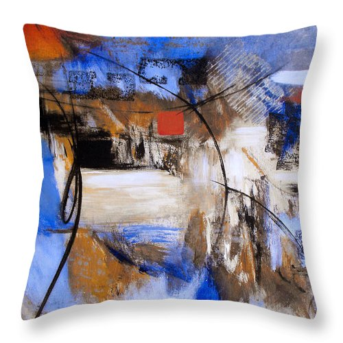 Abstract Throw Pillow featuring the painting Run The Race by Ruth Palmer