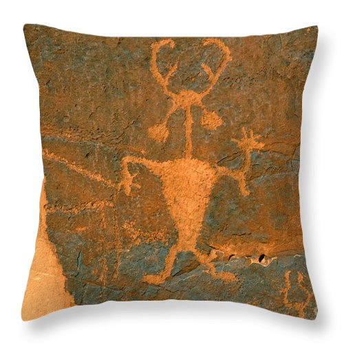 Running Throw Pillow featuring the photograph Running Man by David Lee Thompson