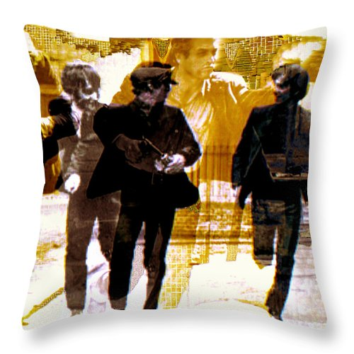 Beatles Throw Pillow featuring the photograph Running Under the Gun by Seth Weaver