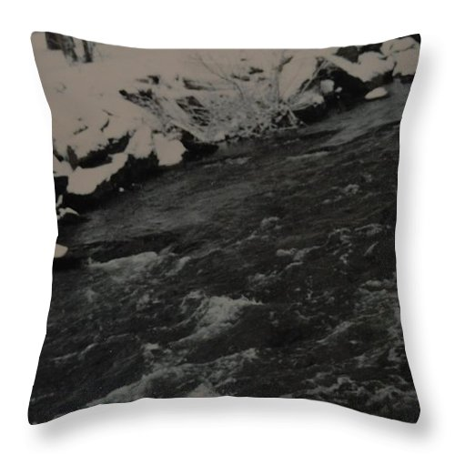 Landscape Throw Pillow featuring the photograph Running Water by Rob Hans